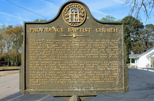 Providence historical sign